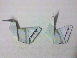 Origami: Ente aus Geldschein falten - Schritt 7