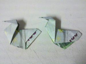 Origami: Ente aus Geldschein falten - Schritt 8