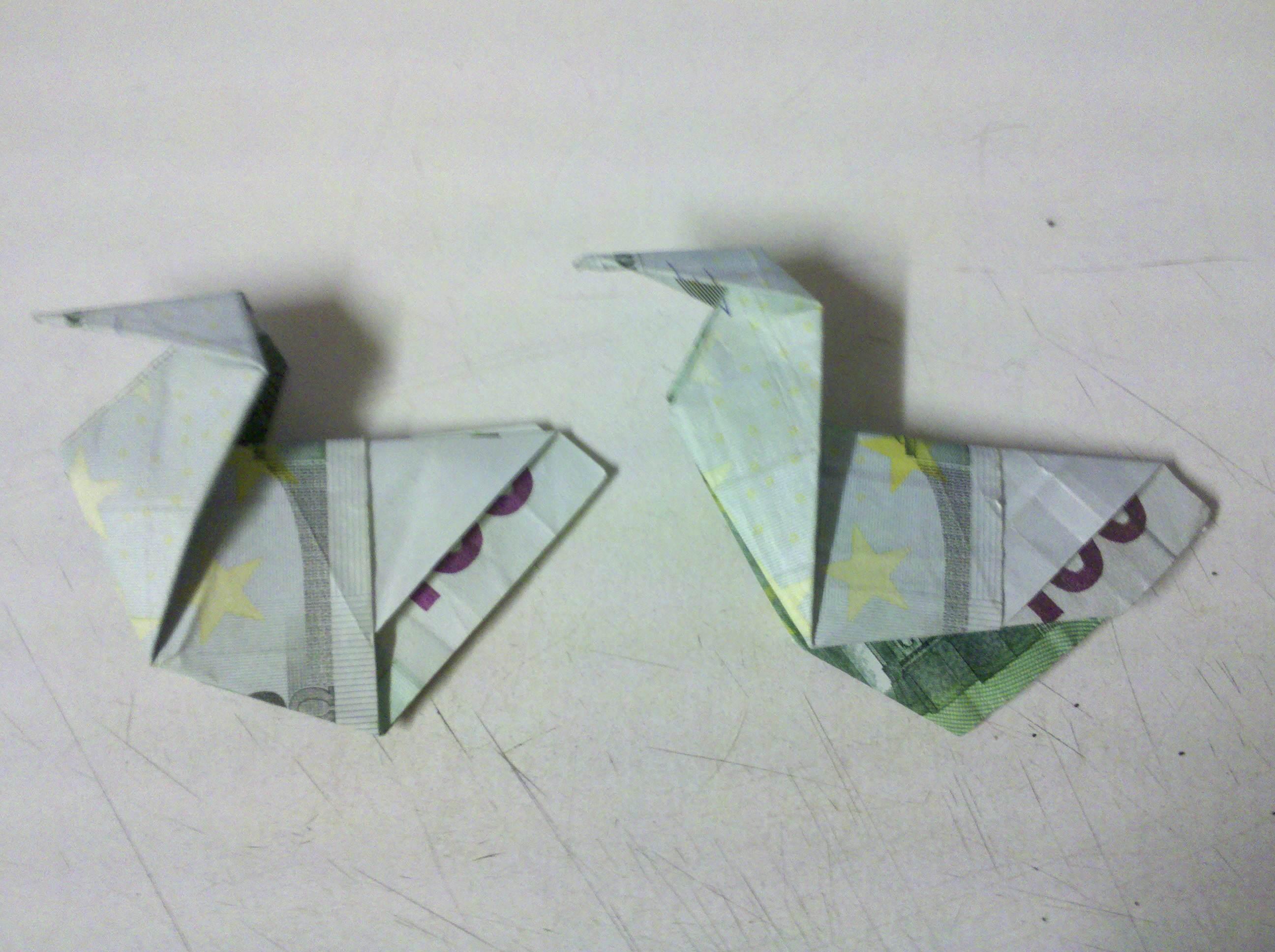 Ente Aus Geldschein Falten Origami Mit Geldscheinen