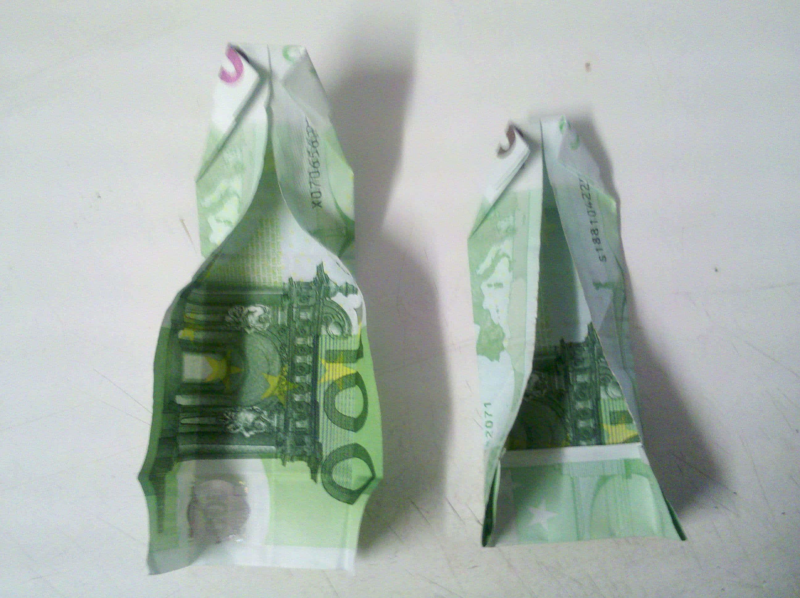 geldscheine falten schmetterling leicht