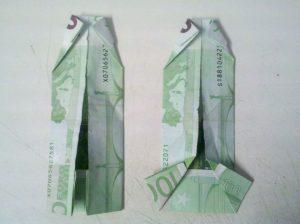 Origami-Faltanleitung Hemd - Schritt 5