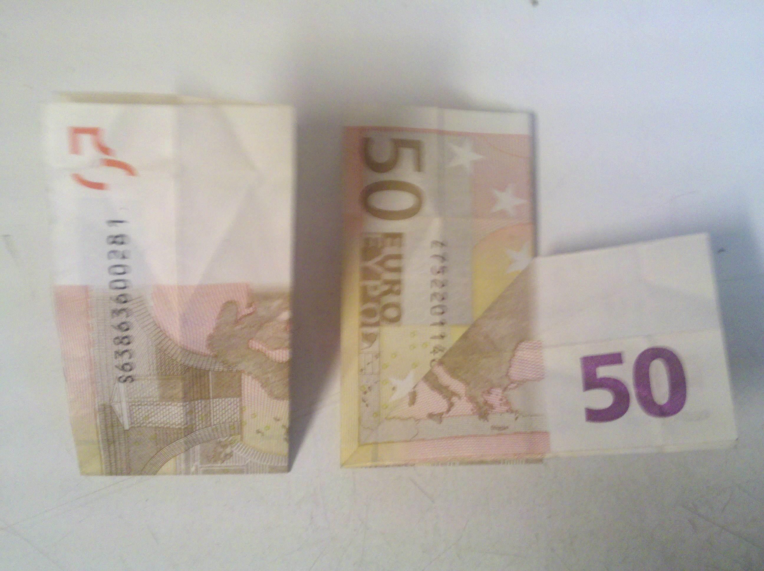 Herz Aus Geldschein Falten Origami Mit Geldscheinen