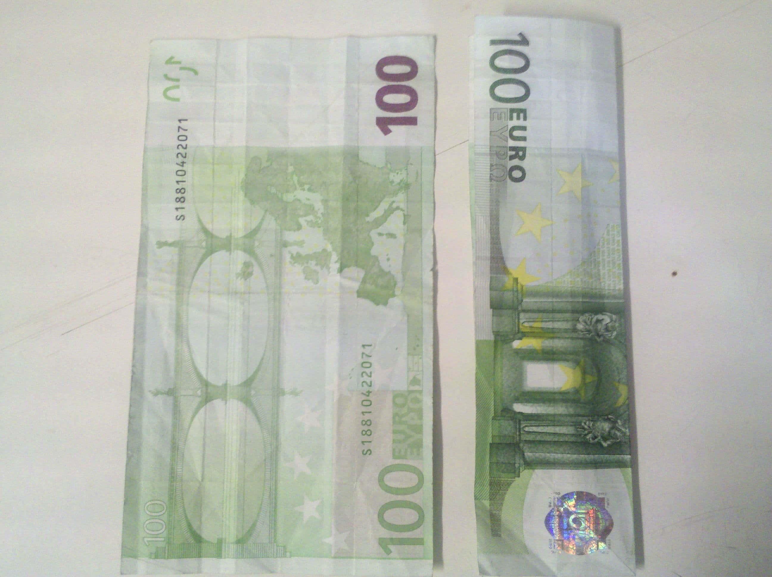 Krawatte Aus Geldschein Falten Origami Mit Geldscheinen