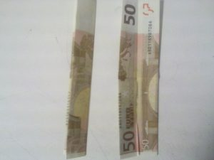 Origami: Klappnummer 3 aus der Rechnung - Schrëtt 3