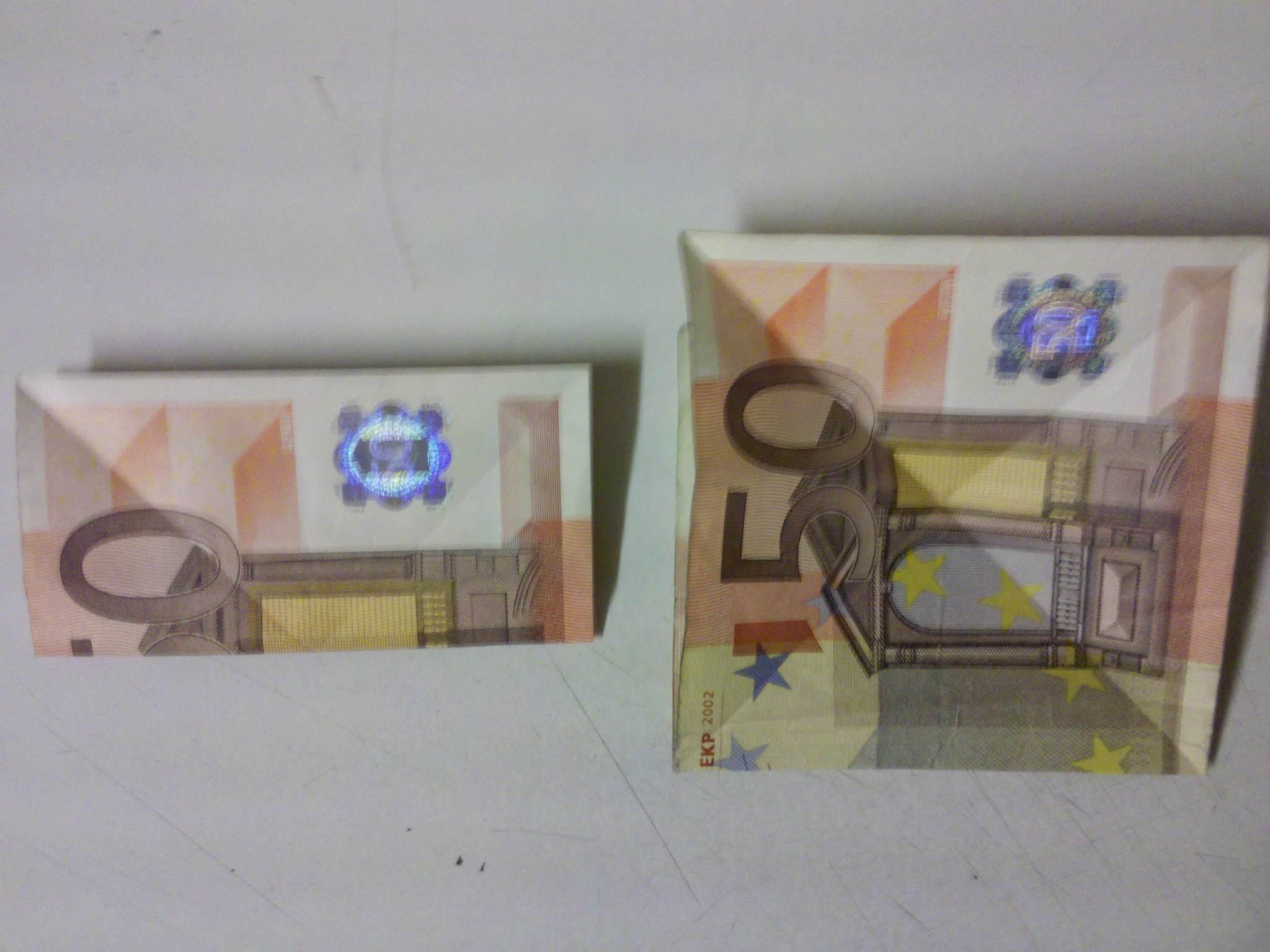 2048 x 1536 jpeg 212kB, Origami-Anleitung: Fisch aus einem Geldschein ...