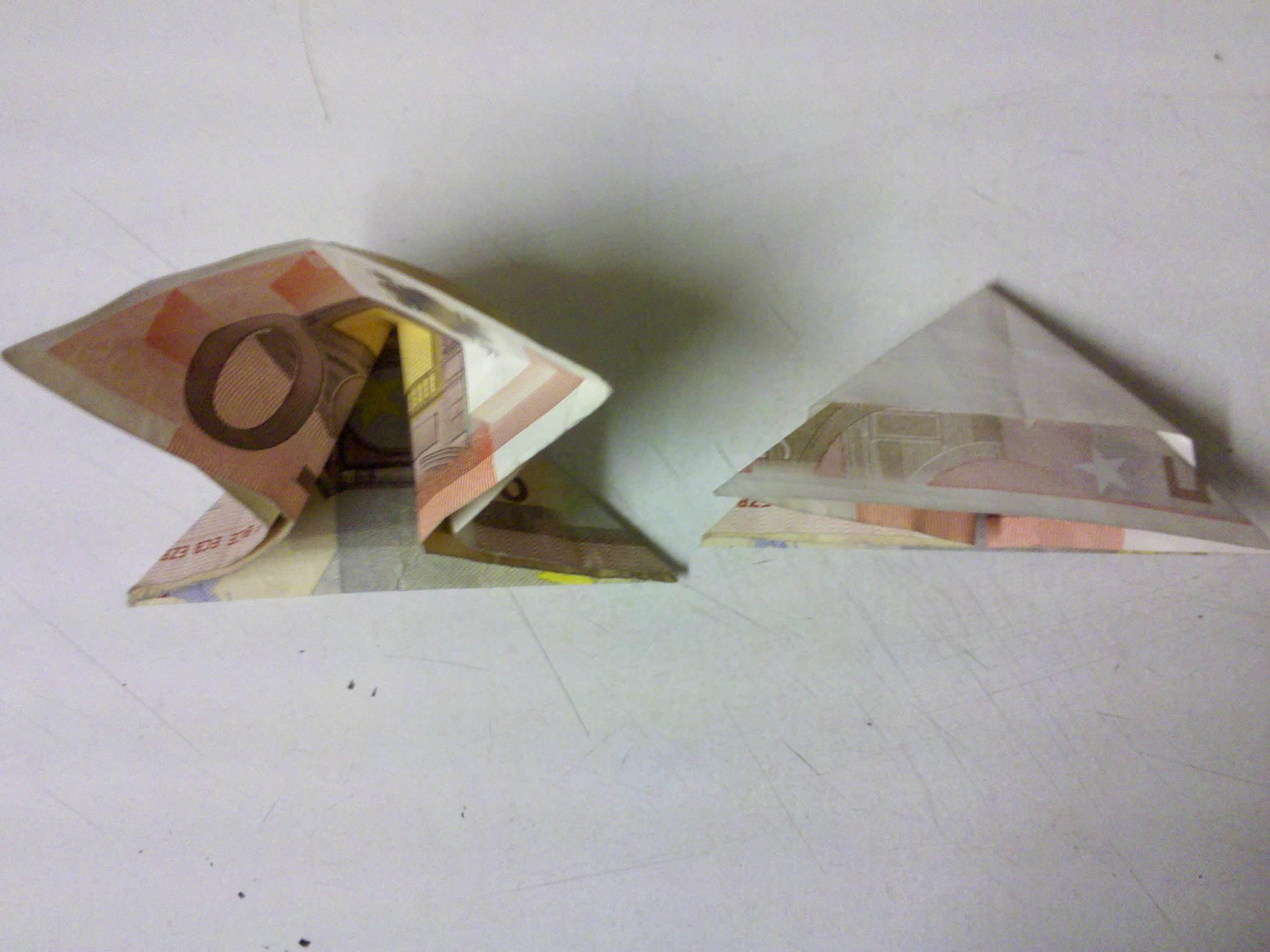 Fisch Aus Einem Geldschein Falten Origami Mit Geldscheinen
