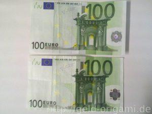 Anleitung: Origami-Stern aus Geldscheinen falten - Schritt 1