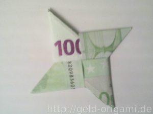 Anleitung: Origami-Stern aus Geldscheinen falten - Schritt 10