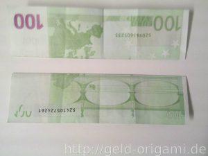 Anleitung: Origami-Stern aus Geldscheinen falten - Schritt 2