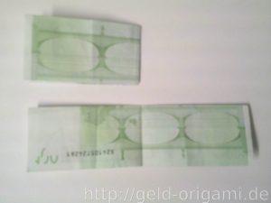 Anleitung: Origami-Stern aus Geldscheinen falten - Schritt 3