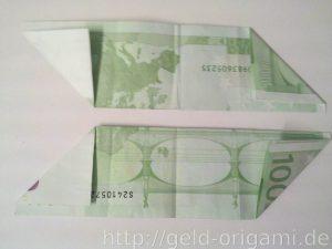 Anleitung: Origami-Stern aus Geldscheinen falten - Schritt 4