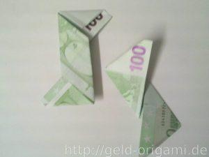 Anleitung: Origami-Stern aus Geldscheinen falten - Schritt 7