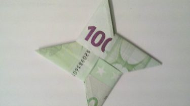 Stern Aus Zwei Geldscheinen Falten Origami Mit Geldscheinen