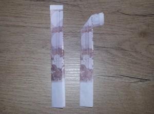 Zahl 5 aus einem Geldschein falten - Schritt 3