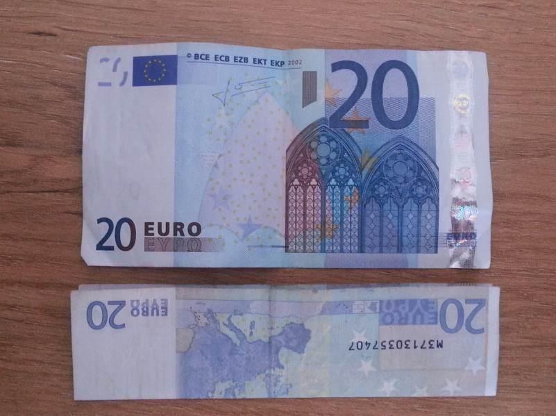 fisch gefaltet mit geld
