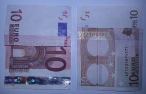 Kleid aus einem Geldschein falten - Schritt 2