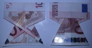Kleid aus einem Geldschein falten - Schritt 7