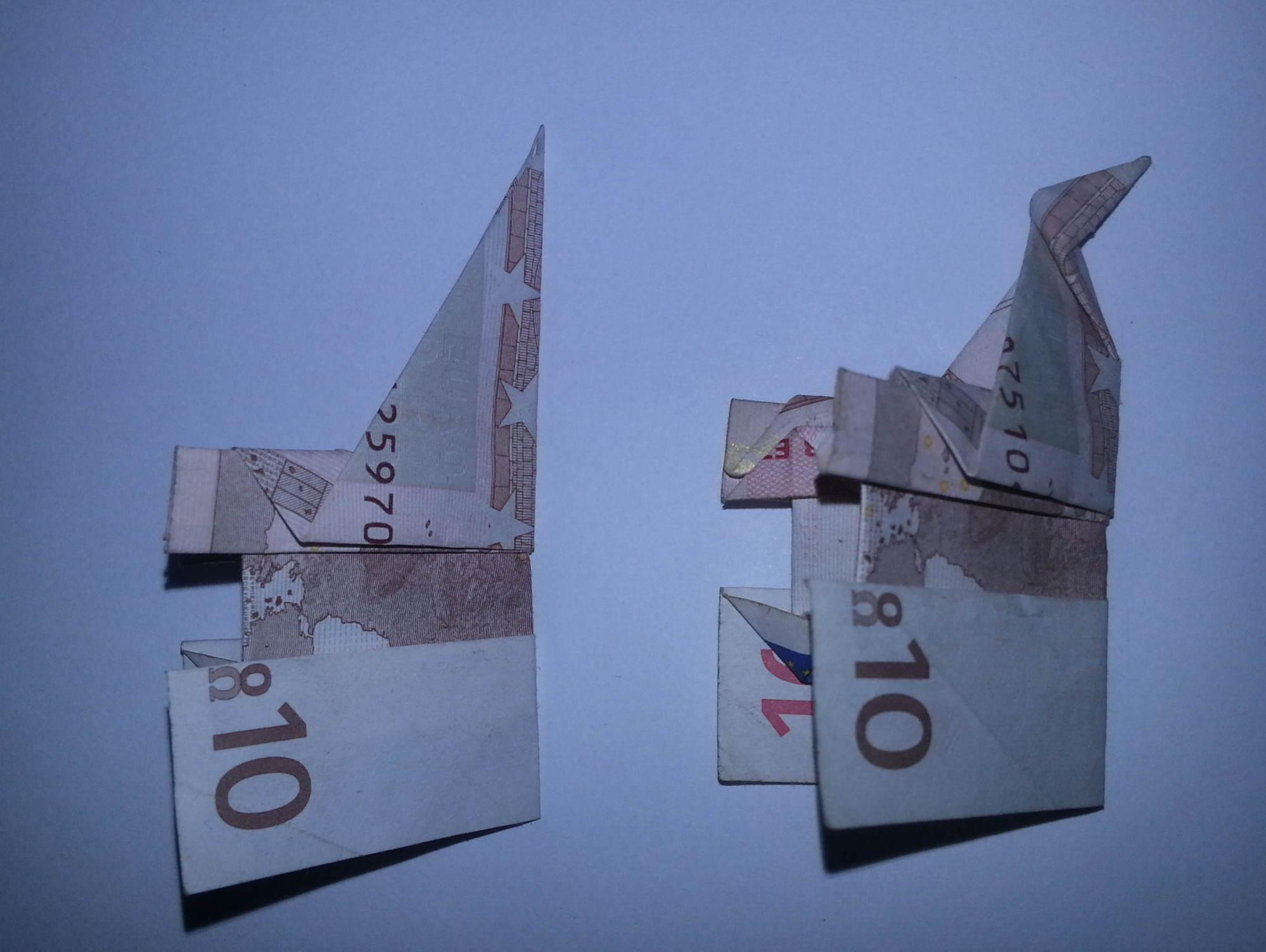 Extrem Elefant aus einem Geldschein falten - Origami mit Geldscheinen EH83