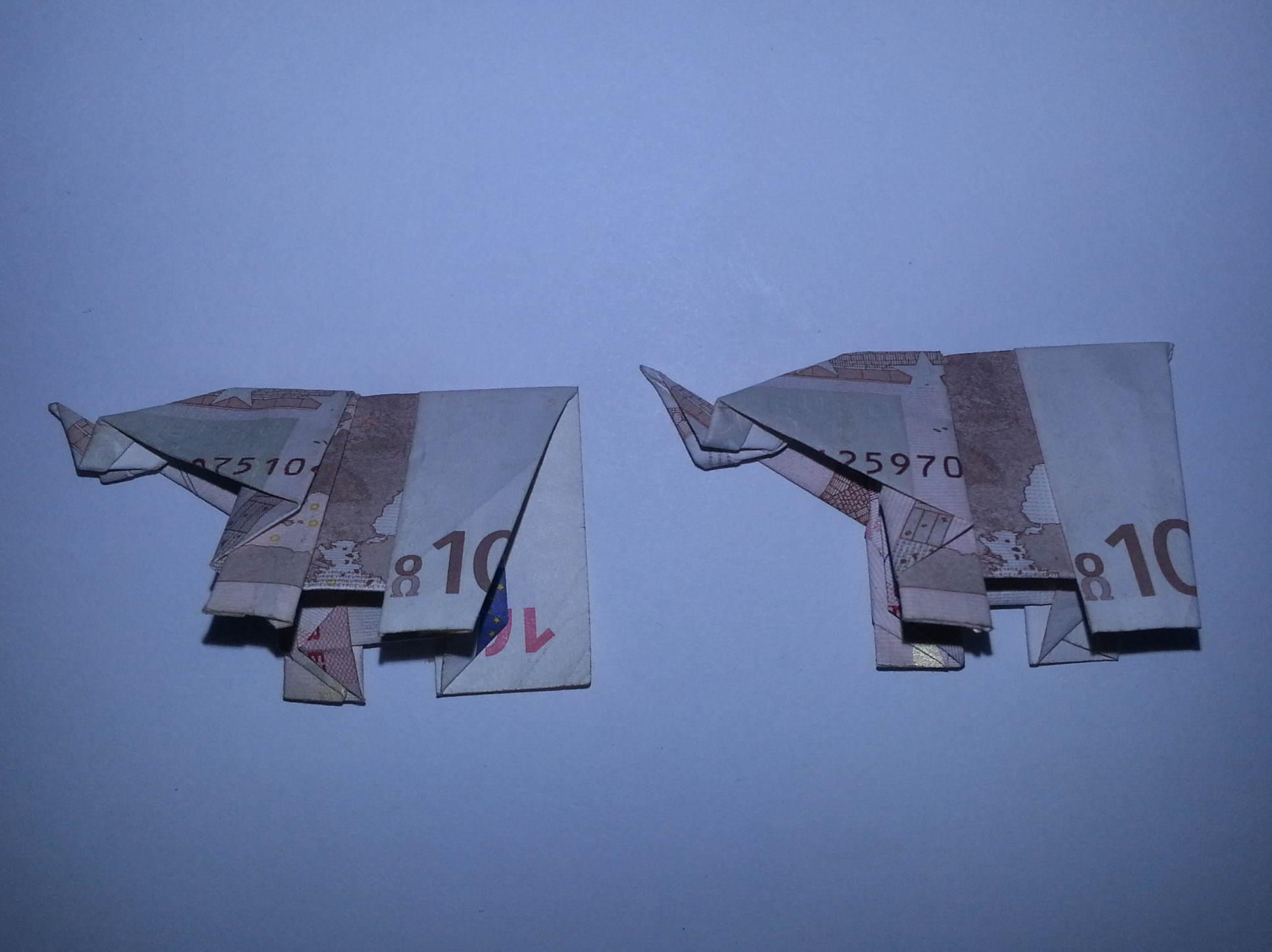 Beliebt Elefant aus einem Geldschein falten - Origami mit Geldscheinen HT25