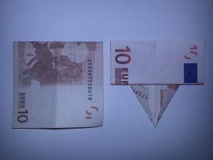 Elefant aus einem Geldschein falten - Schritt 4