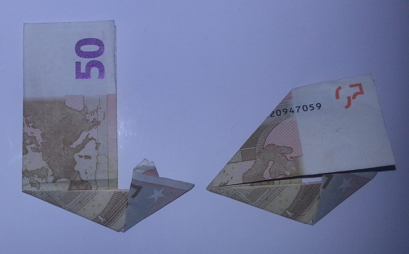 stiefel aus geldschein falten schritt 4 origami mit. Black Bedroom Furniture Sets. Home Design Ideas