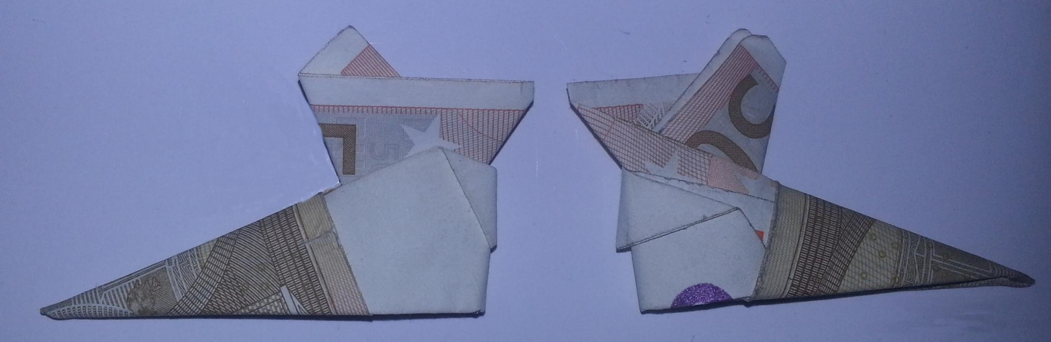 Stiefel aus einem Geldschein falten » Origami mit Geldscheinen