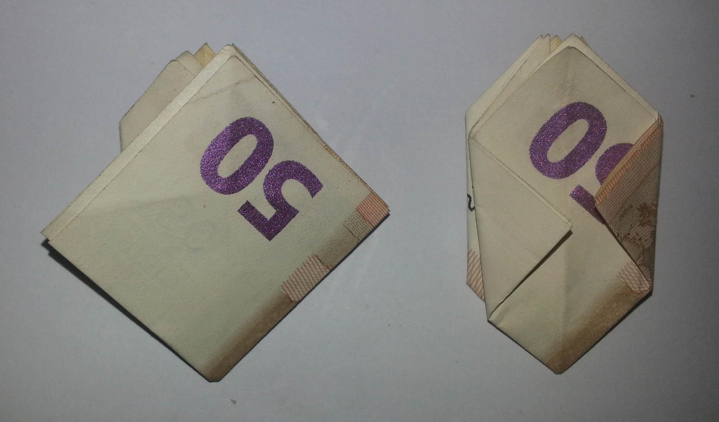Blume Aus Einem Geldschein Falten Origami Mit Geldscheinen