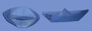 Schiff aus einem Geldschein falten: Schritt 10