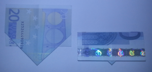 Fold ship from a banknote: Step 5