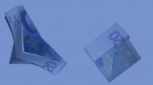 Schiff aus einem Geldschein falten: Schritt 7