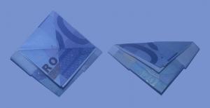 Schiff aus einem Geldschein falten: Schritt 8