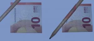 Doblar rosa de los billetes: Paso 2