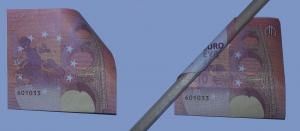 Doblar rosa de los billetes: Paso 3
