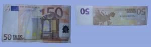 Fliege aus Geldschein falten: Schritt 1
