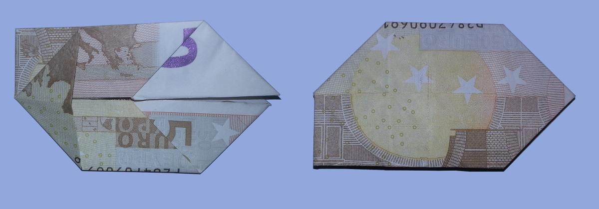 fliege aus geldschein falten origami mit geldscheinen. Black Bedroom Furniture Sets. Home Design Ideas