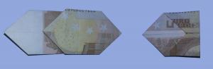 Fliege aus Geldschein falten: Schritt 8