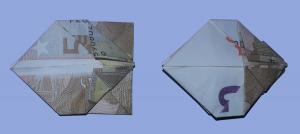 Fliege aus Geldschein falten: Schritt 9