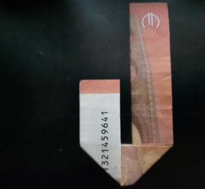 Bild: Zahl 4 aus einem Geldschein falten - Schritt 7