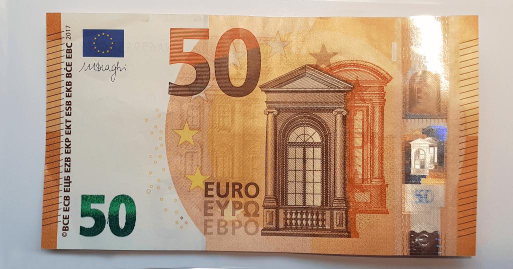 Преклопете јамка на банкноти - чекор 1