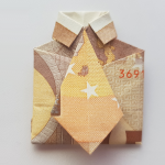Fold shirt with tie from a bank note