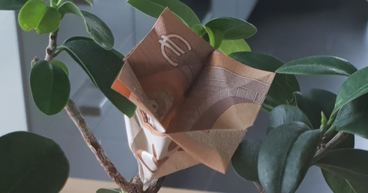 Flor dobrada de uma conta