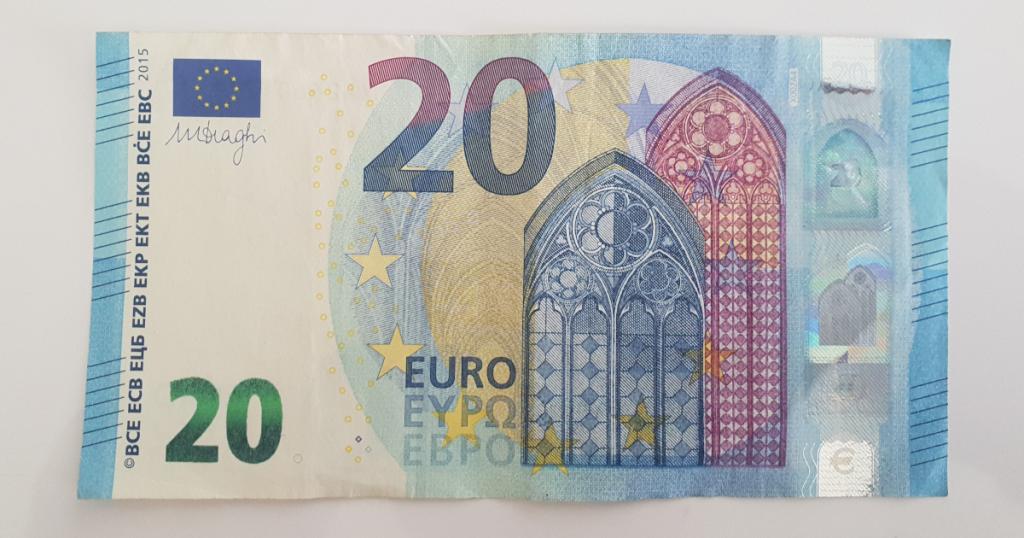 Сгъваем паун от банкнота - стъпка 1