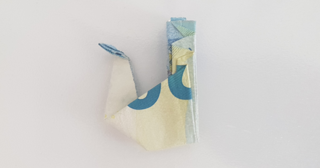 Сгъваем паун от банкнота - стъпка 22