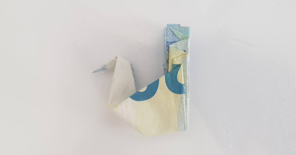 Сгъваем паун от банкнота - стъпка 23