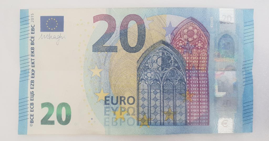 Сгъваем паун от банкнота - стъпка 3