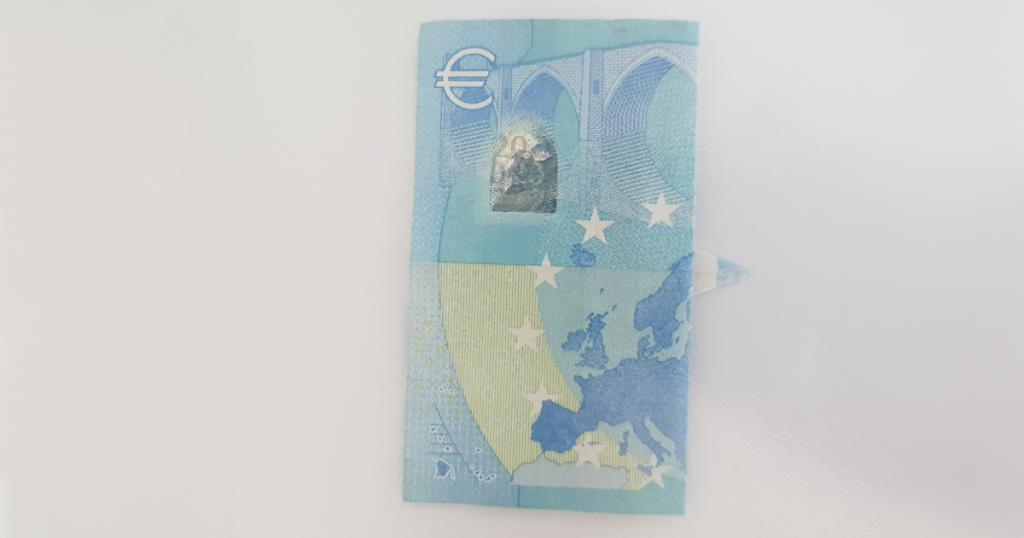 Сгъваем паун от банкнота - стъпка 9