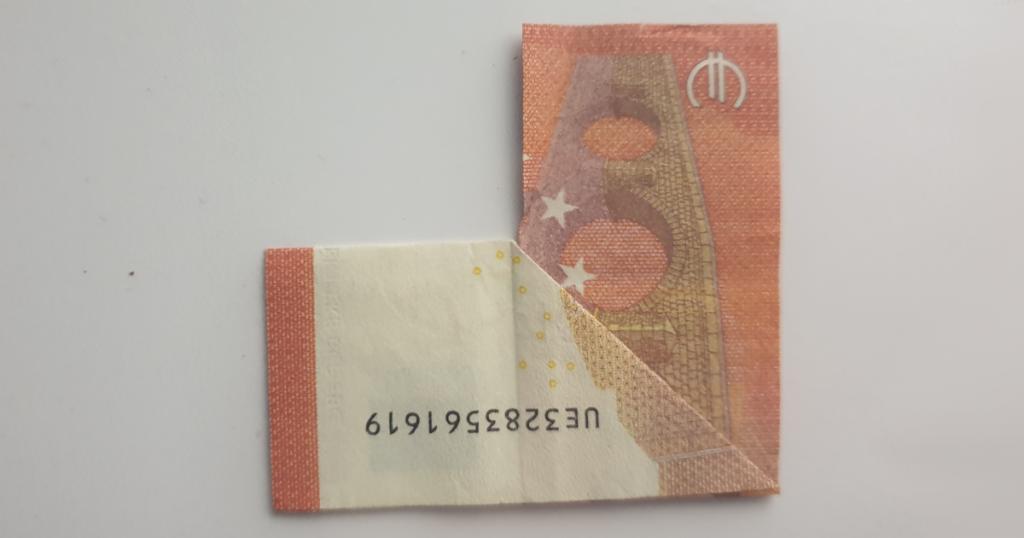 Božićne čizme rasklopite iz novčanice - Korak 13