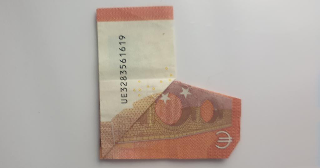 Božićne čizme rasklopite iz novčanice - Korak 16