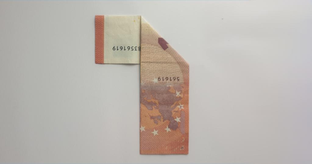 Božićne čizme rasklopite iz novčanice - Korak 7