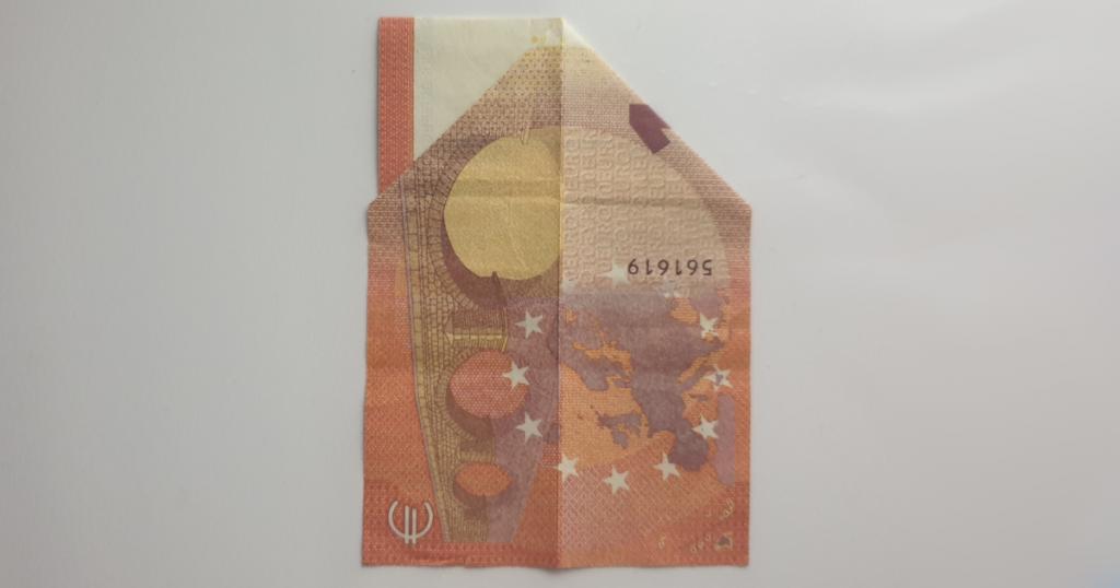 Božićne čizme rasklopite iz novčanice - Korak 9
